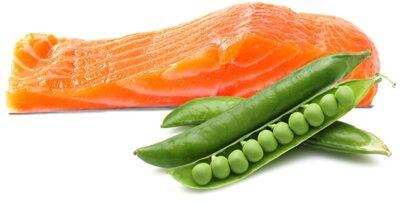 salmon-peas