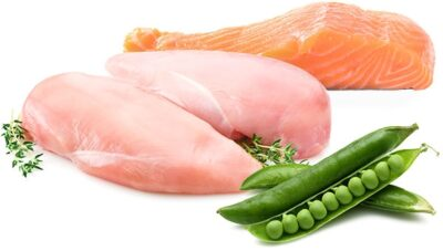 turkey-salmon-peas